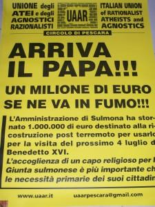 Manifesto UAAR Sulmona