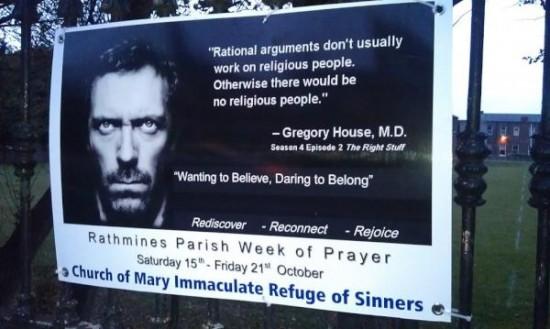 pubblicità della Chiesa Cattolica irlandese