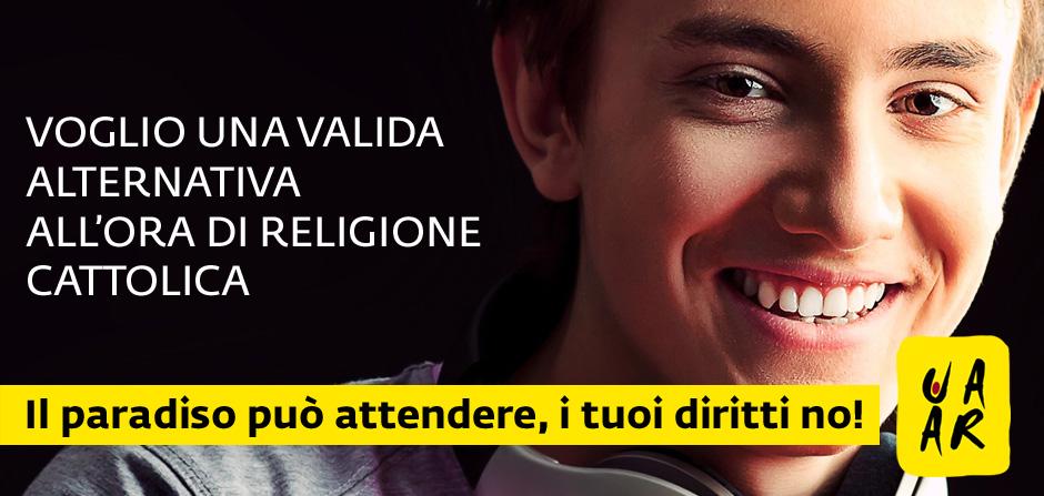 Voglio un'alternativa all'ora di religione cattolica