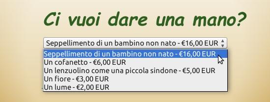 Seppellimento: 16 euro