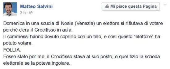 Salvini-crocifisso