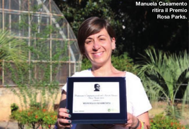 Manuela Casamento ritira il Premio Rosa Parks